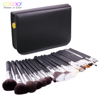 Docolor 29PCS makeup brush kit Professional Cosmetic Brush set High Quality Makeup Set With Case nature bristle make up brushes