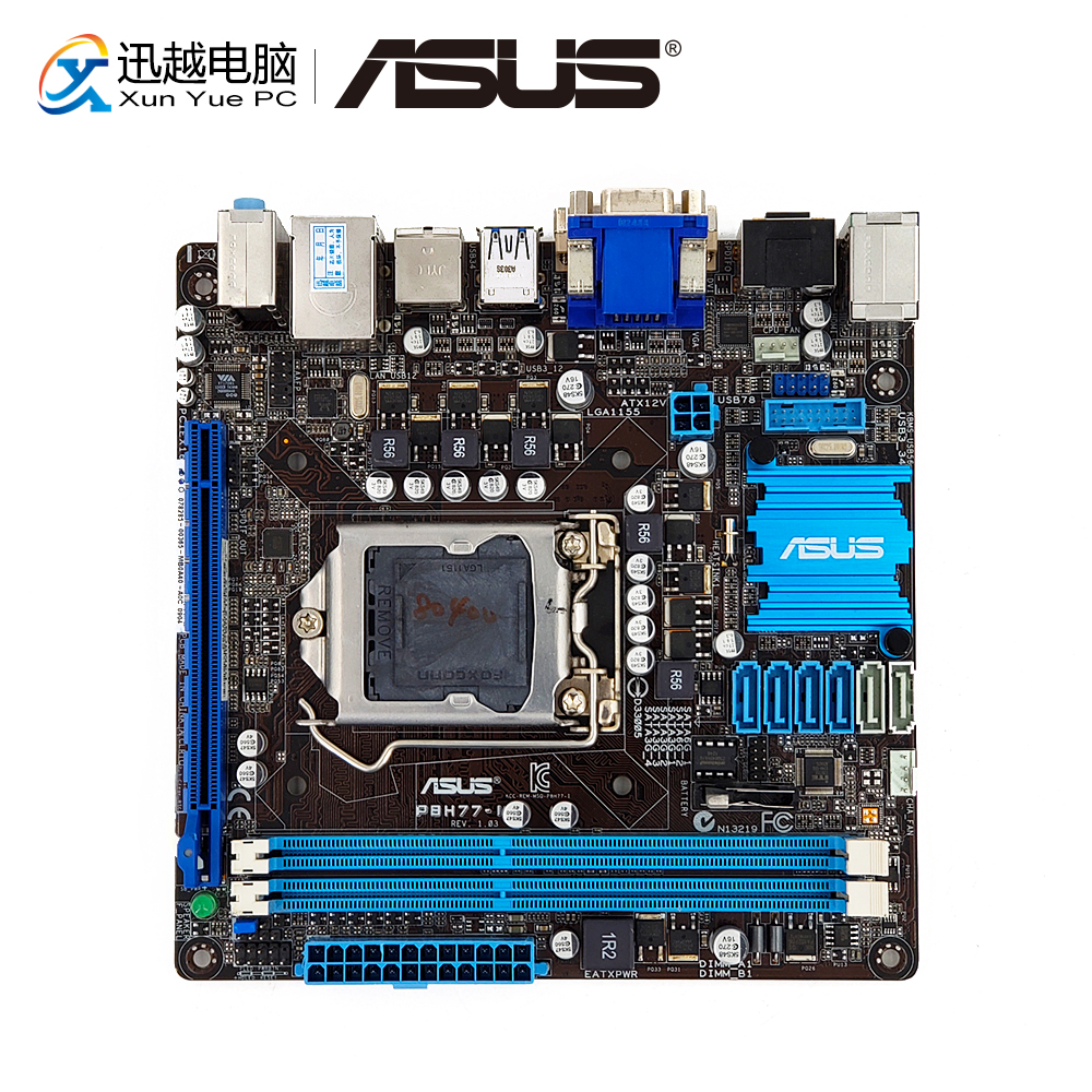 Asus P8H77-I Desktop Motherboard H77 LGA 1155 i3 i5 i7 DDR3 16G SATA3 USB3.0 HDMI DVI VGA Mini-ITX цены онлайн