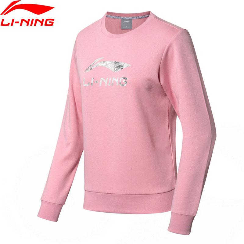 (Break Code)Li-Ning Women The Trend Sweater Regular Fit Knit 87% Cotton 13% Polyester Li Ning LiNing Sports Tops AWDN638 WWW984
