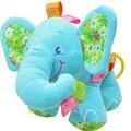 Nuevo Animal Elefante en rosa Suave Felpa Cuna Cama Coche Colgando Mano Sonajeros Juguetes Del Bebé, Niña, Niño Juguetes de Regalo