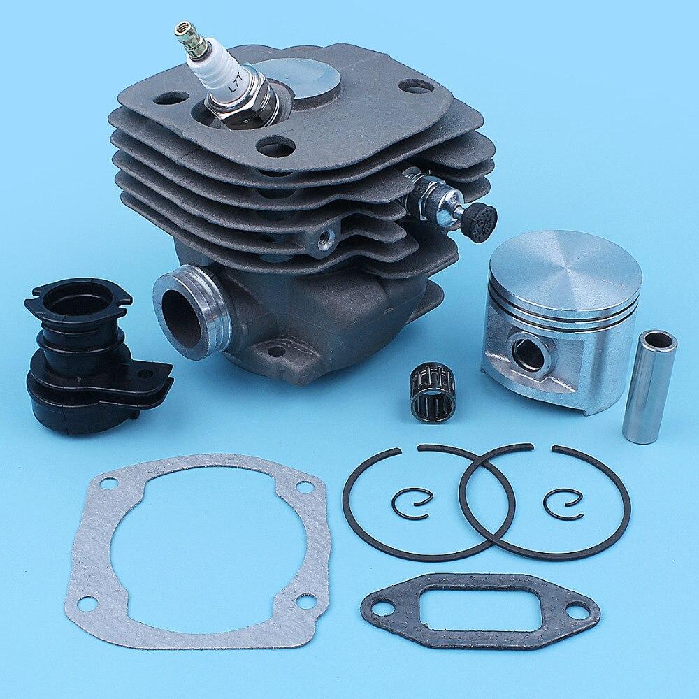 Nikasil Plated 50MM Cylinder Piston WT Intake Manifold Kit Fit HUSQVARNA 365 362 371 372 XP 371K Jonsered 2165 2171 Chainsaw New