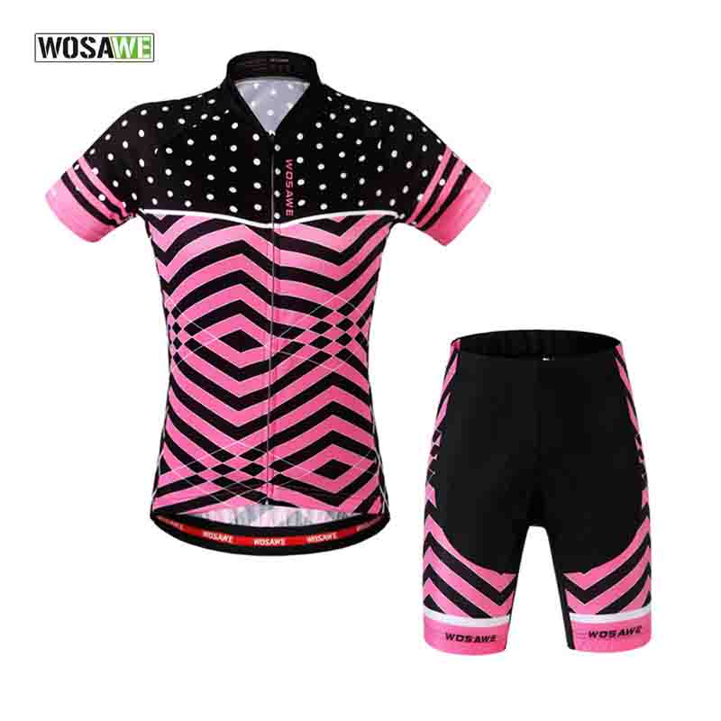 WOSAWE Cycling Sets 4D Gel Pad Breathable Cycling Jersey+Shorts Short Sleeve Bike Clothing Bicycle Clothes Tights Suit MTB 15 wosawe men long sleeve cycling jersey 4d gel padded tights