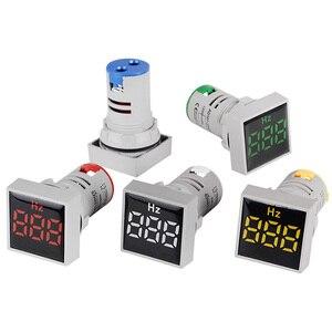 ST17Hz Square 22mm Hole Size LED Digital Frequency Counter Module 60-500V AC hz Meter 20-75Hz Range Hertz Tester Cymometer