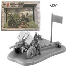 1:72 Soviet Union M30 Howitzer Artillery Gun Resin Military Model Kit Unpainted Plastic Assemble Buiding Toys for Children realts s model ps720100 1 72 t 35 heavy tank mod 1936 plastic model kit