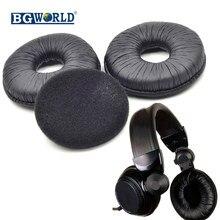 Bgworld 2 pares substituição almofadas de ouvido preto almofada para técnicas RP-DJ1200 dj dj 1200 dj1210 dj 1210 fones ouvido
