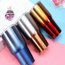 Free Custom HOT SALE Ice Beer Mug Cold Car Cup 30 oz 304 Stainless Steel Vacuum flask Outdoor Drinking Water Bottle Wine Glass