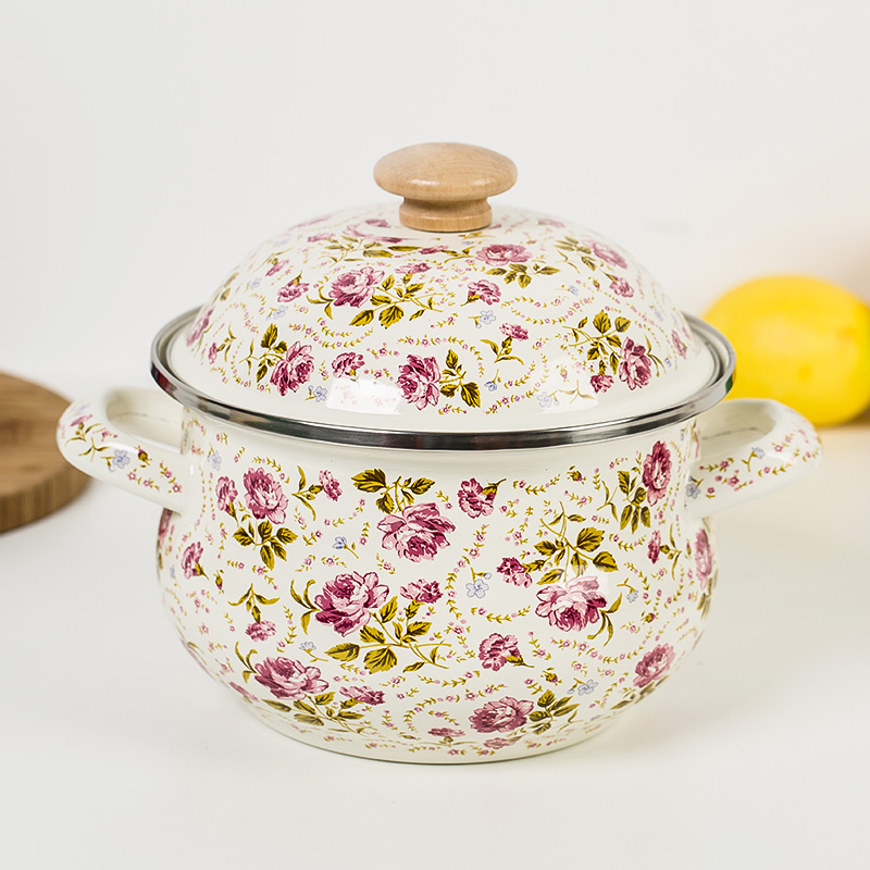 18cm 2l Enamel Cooking Pot Penela Thickening Soup Milk Pan