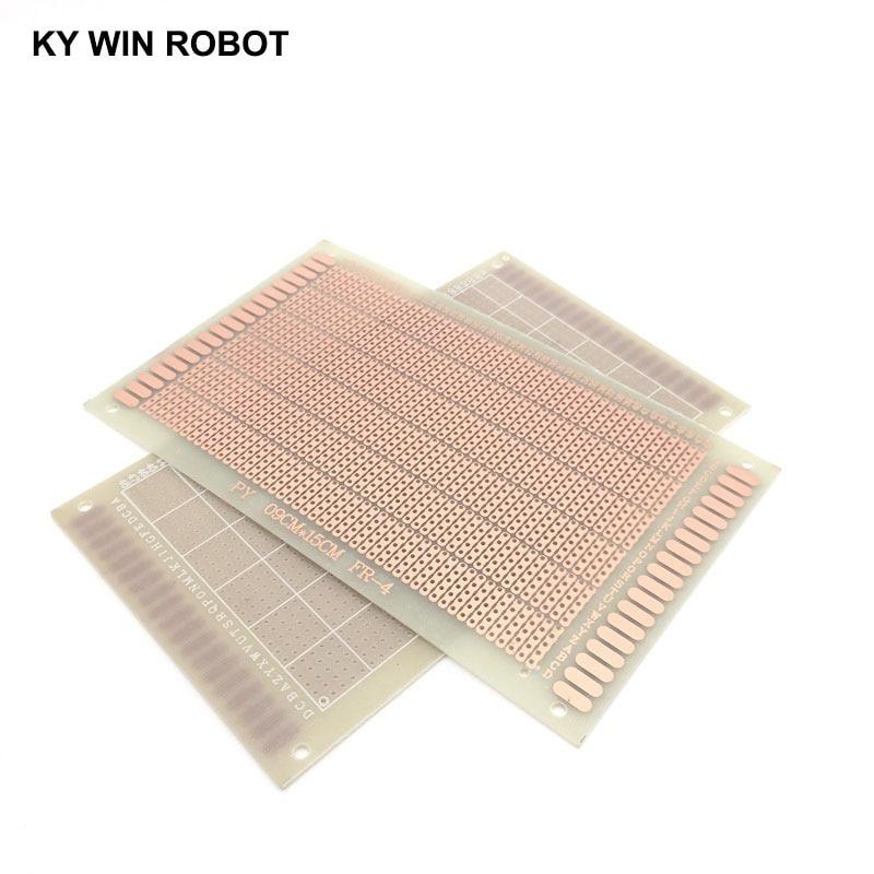 1pcs 9x15cm DIY Prototype Paper PCB Universal Board Experimental Bakelite Copper Plate Five Connected Holes Circuirt Board White