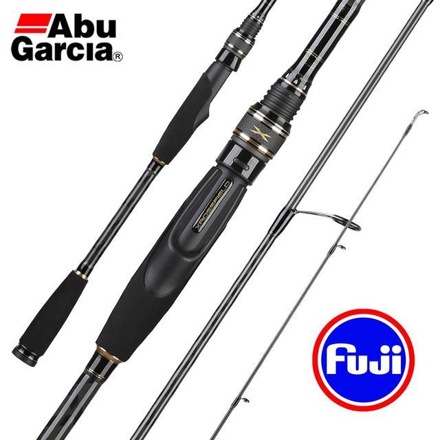Abu Garcia X XROSSFIELD Carbon Spinning Fishing Rod 1.98 2.44M M/H/L/ML Power Casting Lure Rod FUJI SLC Guide Ring Fishing Stick