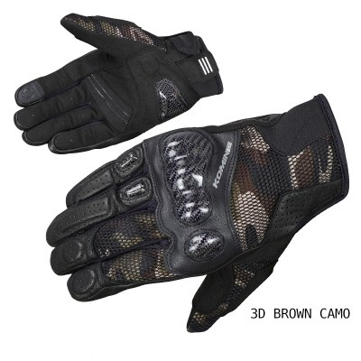 GK-197 spring and summer carbon fiber mesh touch screen racing motorcycle locomotive anti-fall riding gloves motorrad