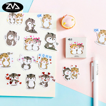 цены 45 Pcs/box Cute seal Mini Decoration Paper Sticker DIY Scrapbook Notebook Album Sticker Stationery Kawaii Girl Stickers