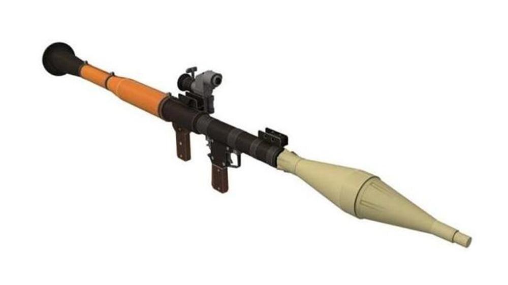 1:1 scale RPG-7 Rocket Launcher firearms 3D Paper model kit