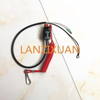 Boat Motor Kill Stop Switch Safety Tether Lanyard For Yamaha Honda Tohatsu Outboard Motor Parts Free