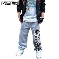 MISNIKI 2017 Spring New Popular Street Style Sweatpants For Men Skull Designer Jogger Pants Hip Hop Men Trousers