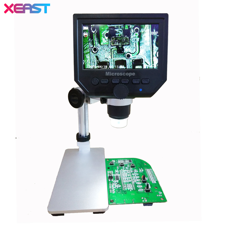 1-600x 3.6MP USB Digital Electronic Microscope Portable 8 LED VGA Microscope With 4.3 HD OLED Screen For Pcb Motherboard Repair 500x wireless digital microscope usb video microscope hd screen electronic 8 led microscope for pcb mobile phone repair