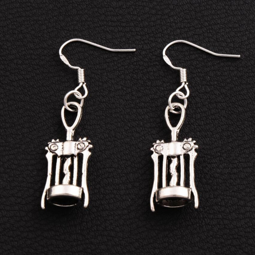 Jewelry & Accessories Jewelry Sets & More 30pairs Antique Silver Wine Corkscrew Opener Earrings 925 Silver Fish Ear Hook Chandelier E285 44.7x11.3mm As Effectively As A Fairy Does