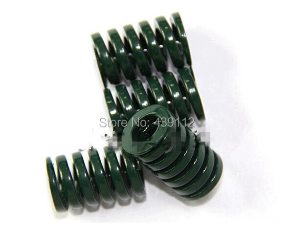 free shipping 16mm x 8mm x 50 mm green Metal Tubular Section Mould Die Spring 10pcs/lot набор отверток fit 56041