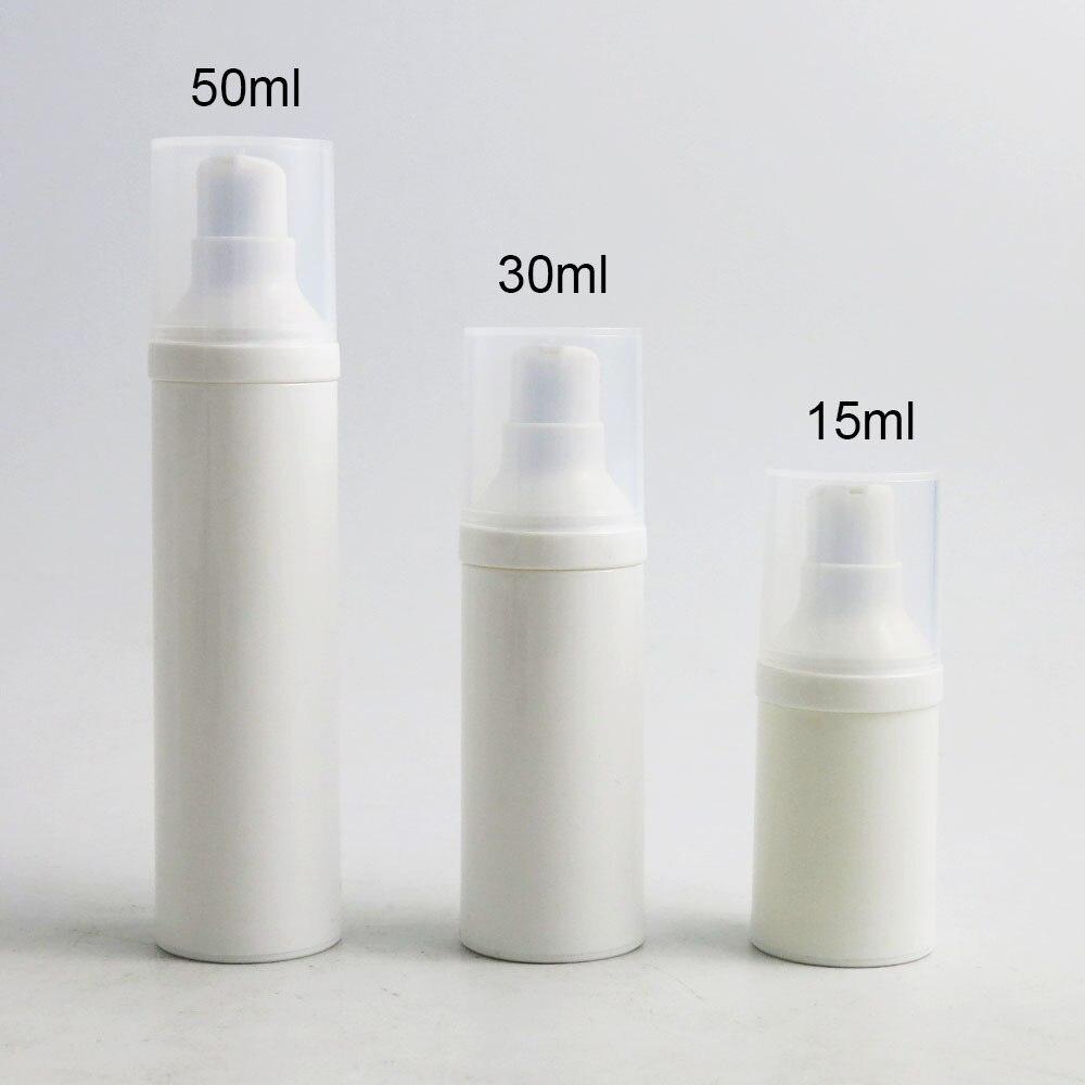 30PCS 15ml 30ml 50ml Empty Sterile Airless Vacuum Pump Bottle Lotion Travel Lotion Pump Bottles Refillable