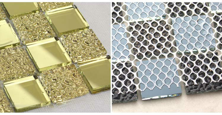 Crystal glass backsplash cucina piastrelle di mosaico design art