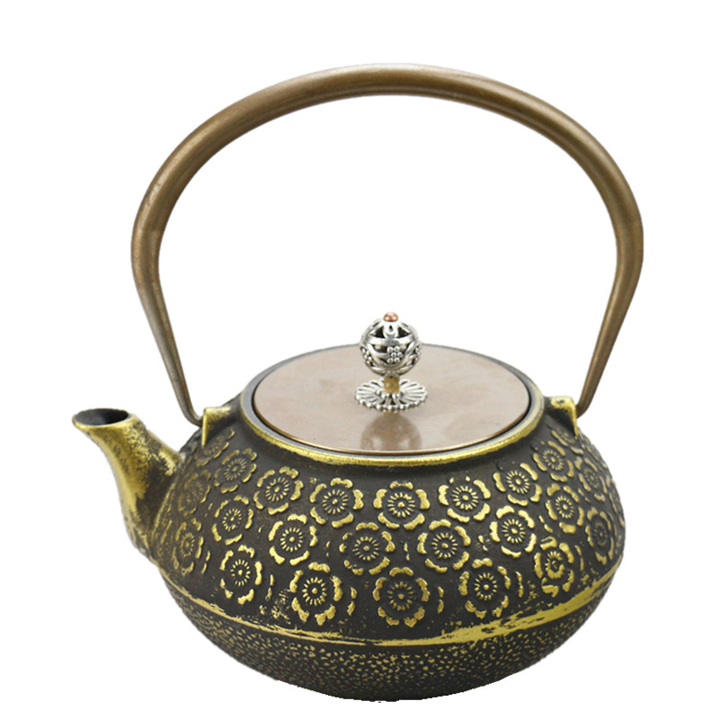 Permalink to Drinkware 1.2L Japanese Cast Iron Tea Pot Golden Cherry  Kettle Creative Drinkware
