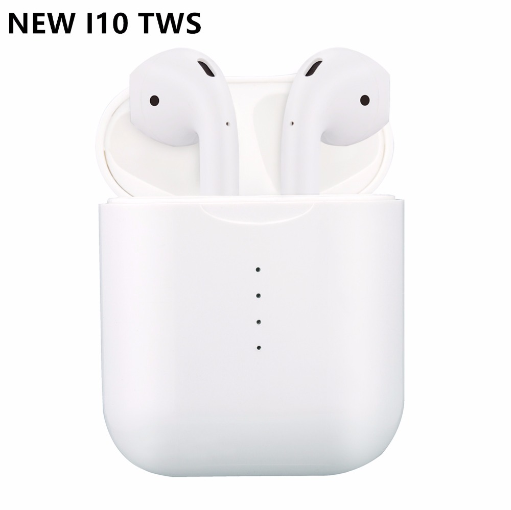 i10S i10 tws Wireless earphone touch earbuds bluetooth 5.0 headset sport  support wireless charging with MIC for all smart phone(China)