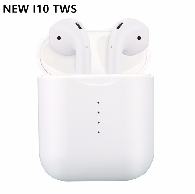 i10S i10 tws Wireless earphone touch earbuds bluetooth 5.0 headset sport  support wireless charging with MIC for all smart phone