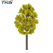 8CM 2017 newer 50pcs/lot Model Building Kits Mixed HO Z Scale Trees for Railroad House Park Street Layout Green landscape
