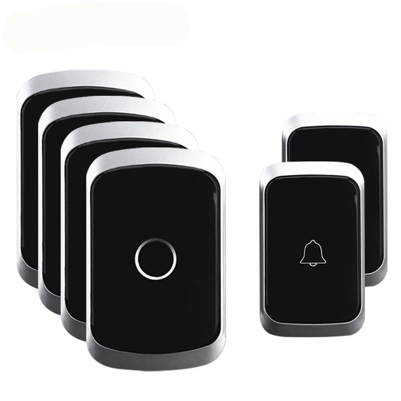 WEMEDA Wireless Waterproof Doorbell 2 Battery Button 4 Receivers EU Plug 300M Remote 36 Chimes 4