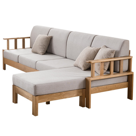 US $7119.99 11% OFF|Living Room Sofas couches for Living Room Furniture  Home Furniture white oak solid wood sectional sofa bed recliner lounge  sofa-in ...