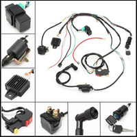 MAYITR New Motorcycle CDI Wiring Harness Loom Ignition Solenoid Coil Rectifier For 50cc 110cc 125cc PIT