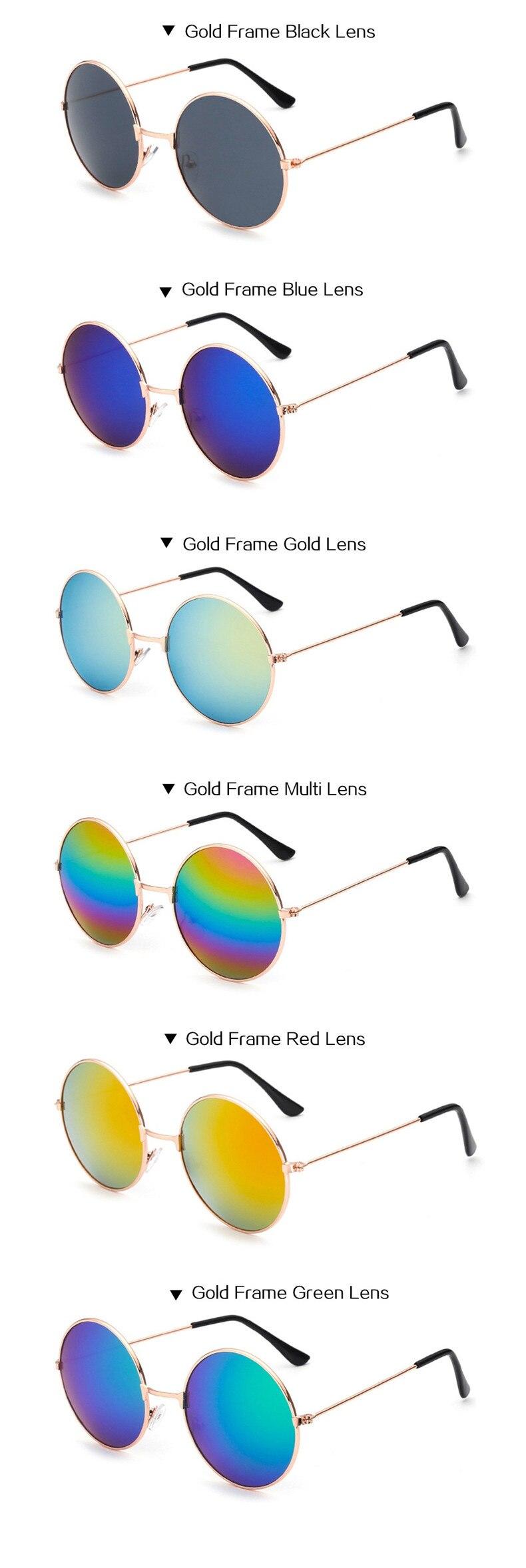 Klassische Runde Sonnenbrille Männer Frauen Kleine Vintage Retro ...