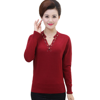 Causal Women Top Fashion V Neck Knit Sweater Women Pull Femme Long Sleeve Knitwear Women Sweaters and Pullovers