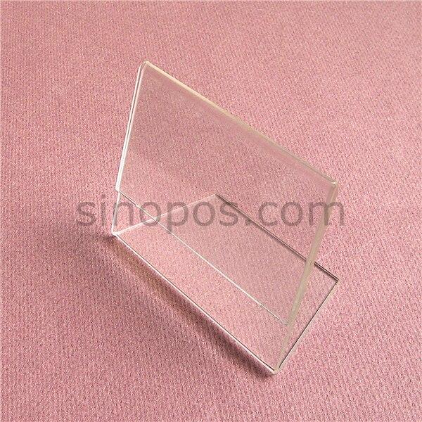 Acrylic Tag Holder 11x8cm L Display Table Rack Clear