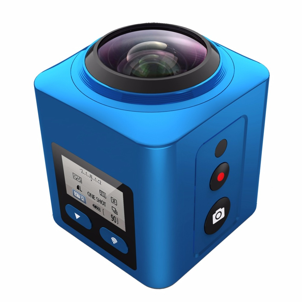 4K 360  mini wireless mini sport Waterproof Action DV camcorder 360 Degree camera 4K 30FPS Ultra HD 1080P Panorama video Camera soocoo 360 degree action video camera wifi 4k 24fps 2 7k 30fps ultra hd sport driving 360 camera with remote control