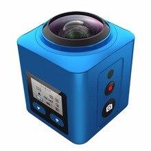 4 К 360 Мини Беспроводная мини Спорт Водонепроницаемый действие видеокамера 360 градусов камеры 4 К 30FPS Ultra HD 1080 P панорама Видео Камера