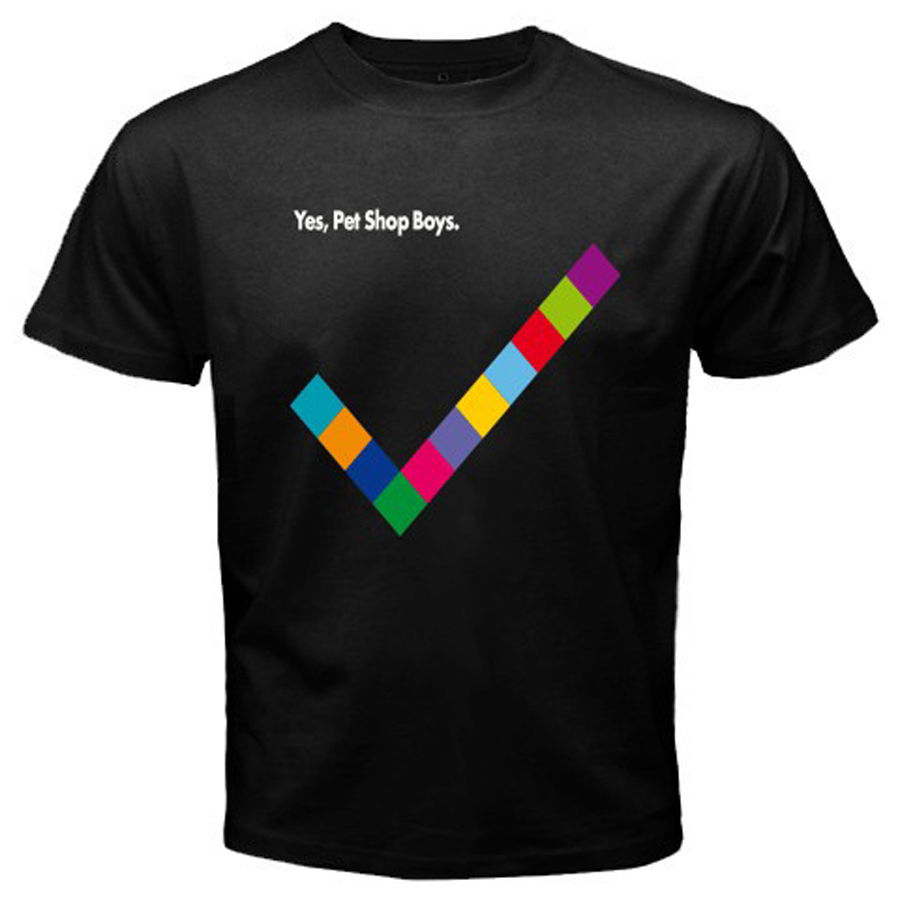 New Pet Shop Boys Yes Electronic Band Mens Black T-Shirt Size S-3XL 100% cotton T Shirt Design Basic Top tee