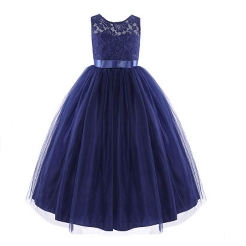 Girls Dress For Party And Wedding Summer 2017 School Children Evening Dresses Kids Princess Lace Flower Age 10 size 3T to 13T girls dress 2017 new summer flower kids party dresses for wedding children s princess girl evening prom toddler beading clothes