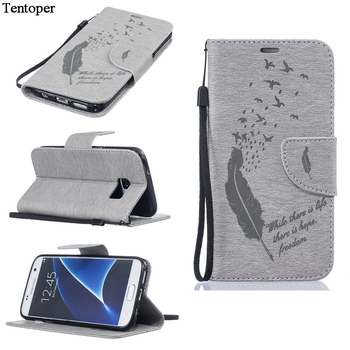 9d2d2c5898e Pájaro Vintage caso para Samsung Galaxy J5 J3 J7 2016 Flip Funda de cuero  para Galaxy J310 J510 J710 cartera bolsa + ranura para tarjeta