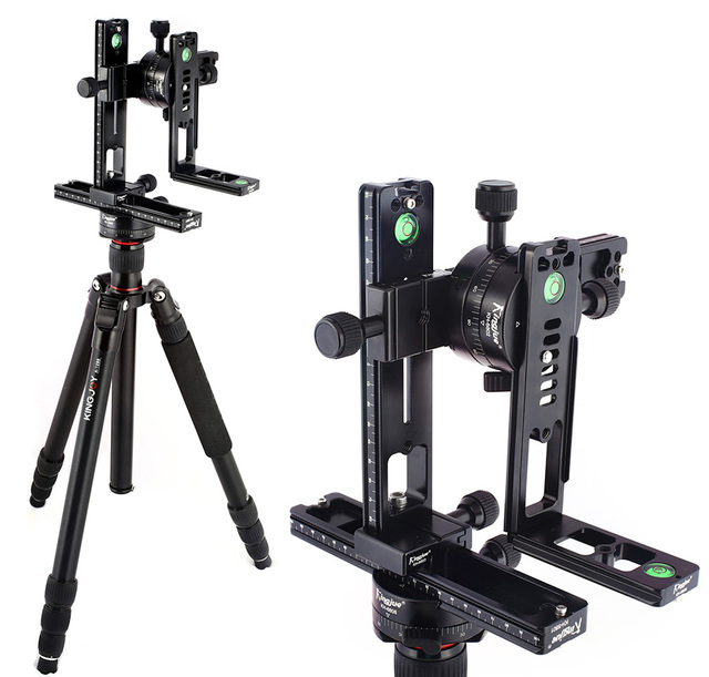 Kingjue KH-6800 Professional Pan Tilt High Margin Panoramic Tripod Head For Photography Nikon Canon Pentax Sony Bird Watching 3D