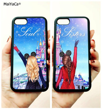 BFF two girls best sister soul sisters soft edge phone cases for apple iPhone x 5s SE 6 6s plus 7 7plus 8 8plus XR XS MAX case