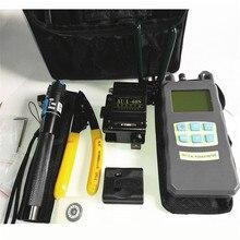 Conjunto de herramientas de fibra Óptica FTTH con AUA-60S Fiber Cleaver + Medidor de Potencia óptica 1 Mw Visual Fault Locator + Chaqueta cortadora