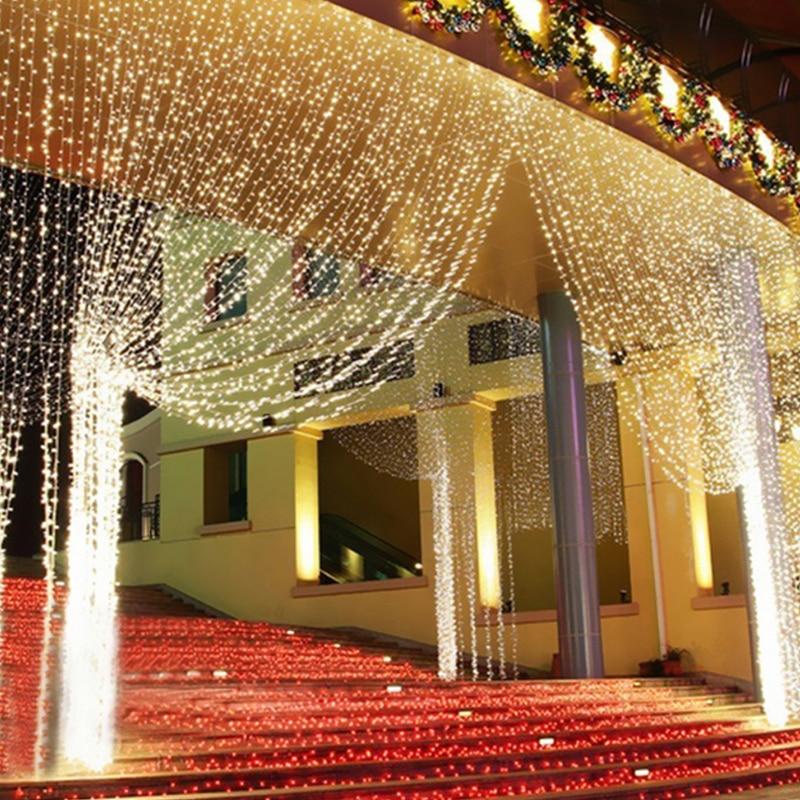 4.5 M x 3 M 300 LED Accueil Extérieure Vacances De Noël Décoratif De Mariage de noël Cordes guirlandes Rideau Guirlandes Bande Lumières de partie