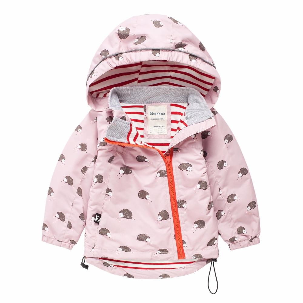 M27 Мода для мальчиков и девочек розовый Ёжик пальто с капюшоном Детская куртка топы для девочек ветровка ребенок тонкое пальто ребенок Легк...