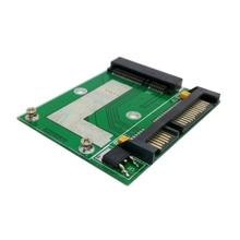 50pcs/lot Low profile Half Height 50mm mini PCI-E mSATA SSD to 7mm 2.5″ SATA 22pin hard disk Drive PCBA ,Free shipping By Fedex