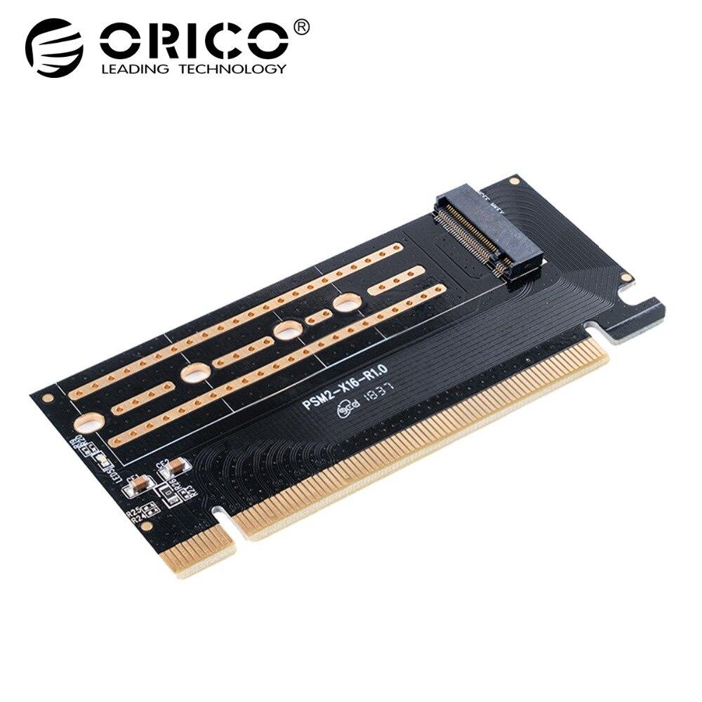 ORICO PCI-E Express M.2 m-key SSD interfaz M.2 NVME a PCI-E 3,0X16 Gen3 convertir tarjeta 2230-2280 tamaño Super velocidad
