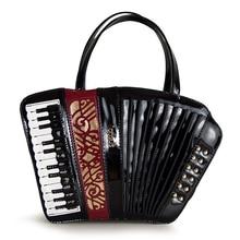 SJ bolsos de hombro de cuero de mujer bolsos de mano de mujer Totes Braccialini estilo de marca Artesanía arte órgano grabado instrumento paquete