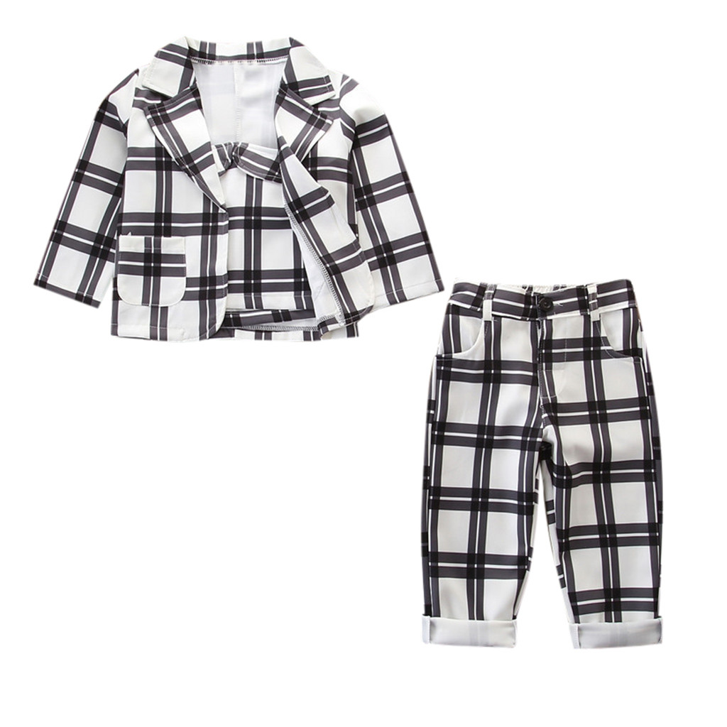 Short Pants Outfits Casual Clothes Sets 3Pcs Toddler Kids Baby Girls Plaid Tops