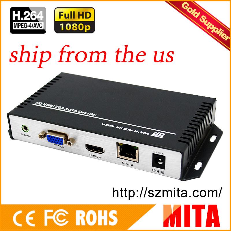 Prix pour HD H.264 MPEG-4 AVC HDMI + VGA RTMP décodeur pour la Diffusion En Direct avec UDP TCP