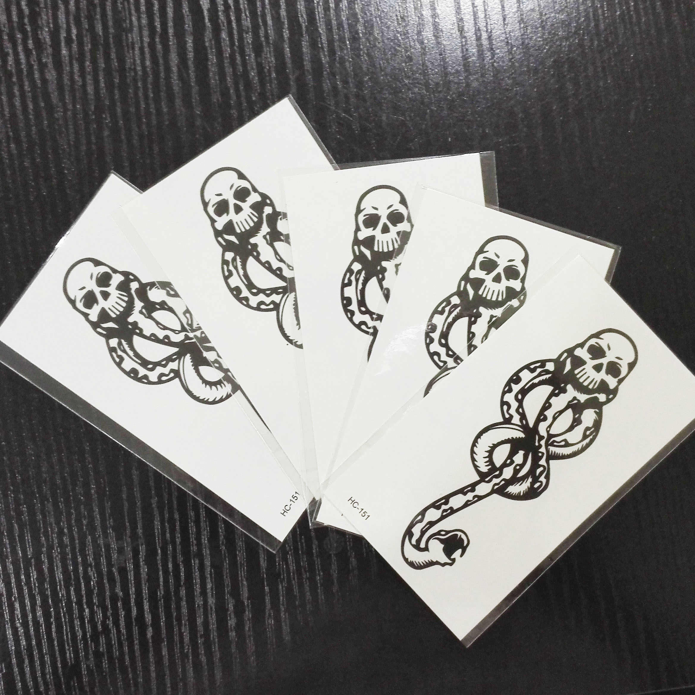 Halloween Death Eaters Dark Mark Tattoos Halloween Party Cosplay Accessories Party