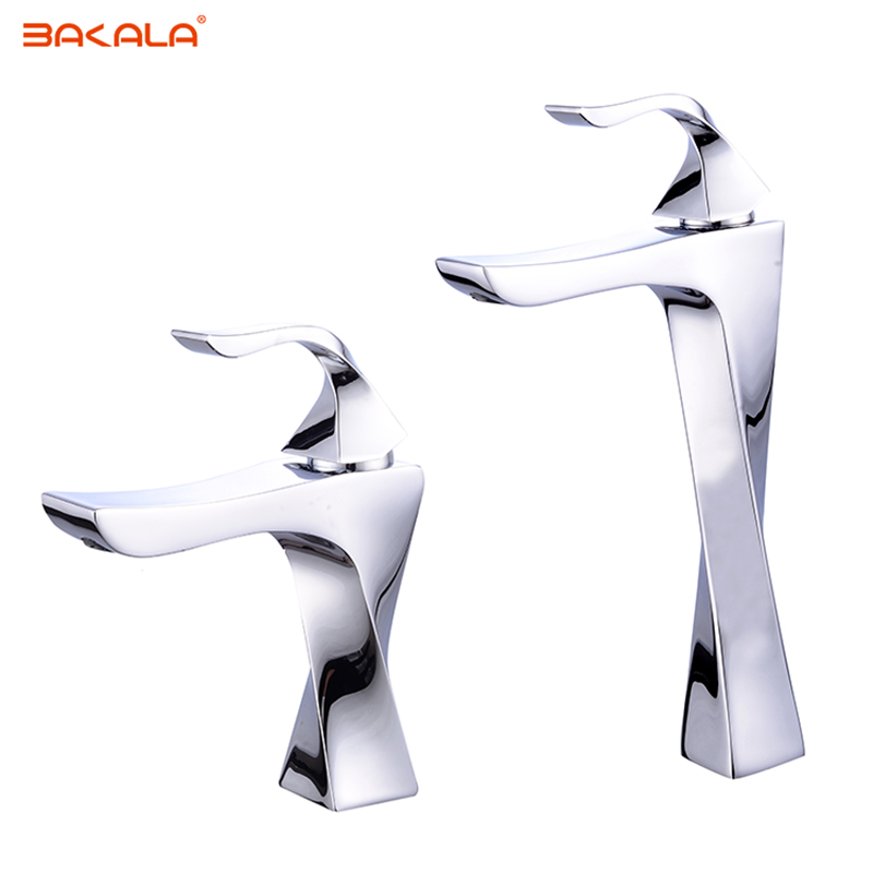 BAKALA New bathroom washbasin faucet Brass sanitary ware faucet Hot and cold water basin mixer Creative personality faucet tap nieneng big discount basin washroom mixer bathroom faucet tap mixers wc sanitary ware water toilet taps polished chrome icd60157